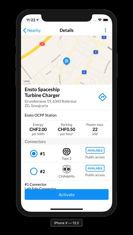 eCarUp App Details EV Charging Station