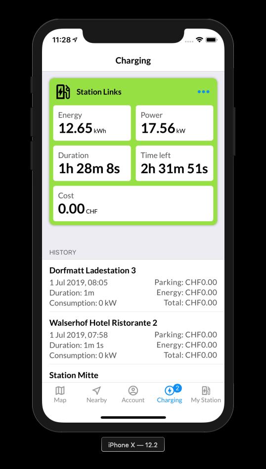 eCarUp App Screen Live Charging Electric Car