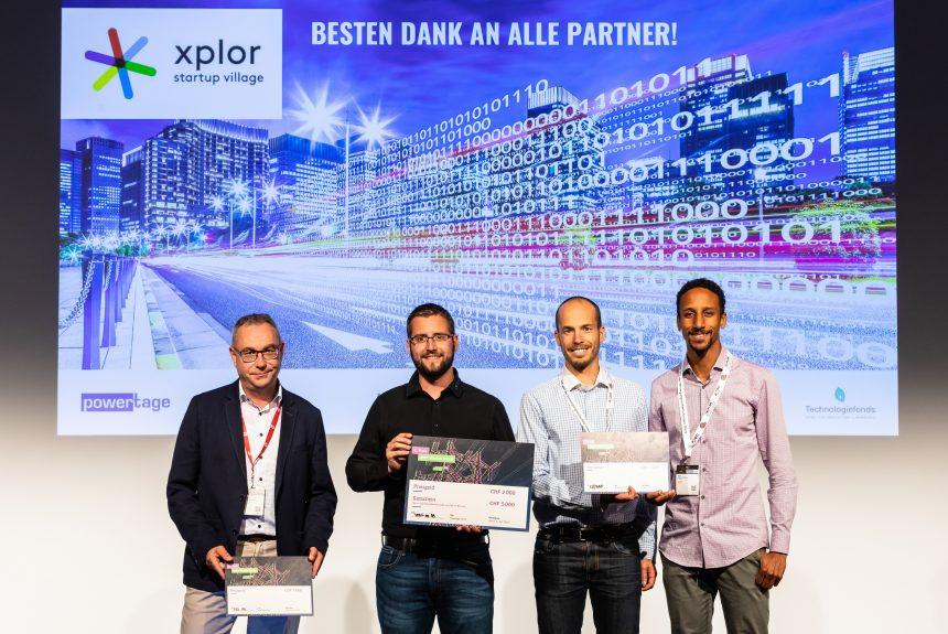 Siegerbild des xplor Startup-Award. Die smart-me AG war die Gewinnerin des xplor Startup-Awards 2018, welcher im Rahmen der Powertage 2018 verliehen wurde.