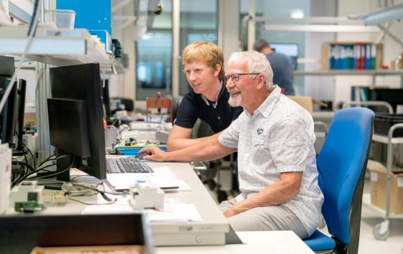 David und Noldy Eberli im Labor