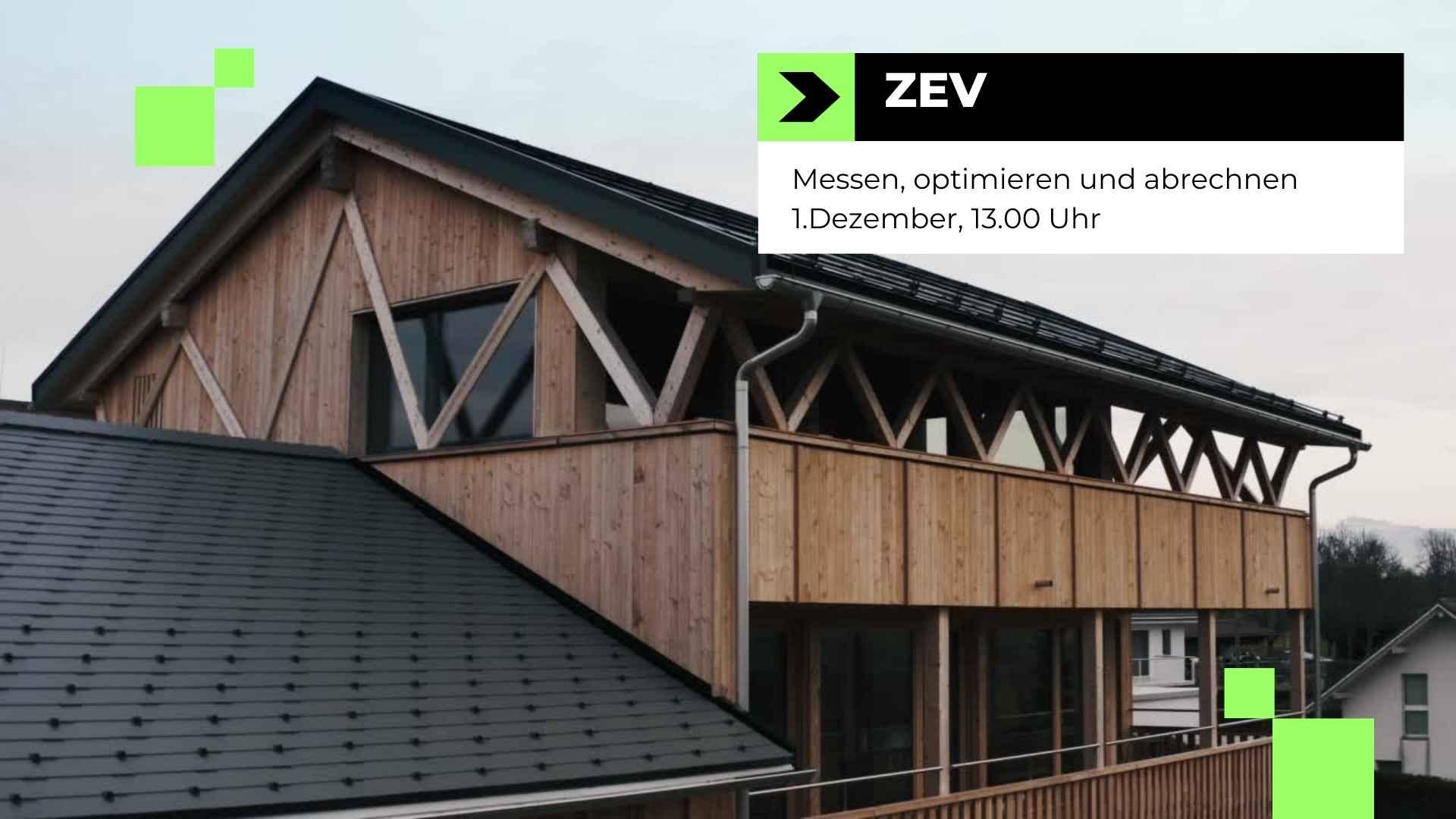 Zusammenschluss zum Eigenverbrauch ZEV Webinar Einladung