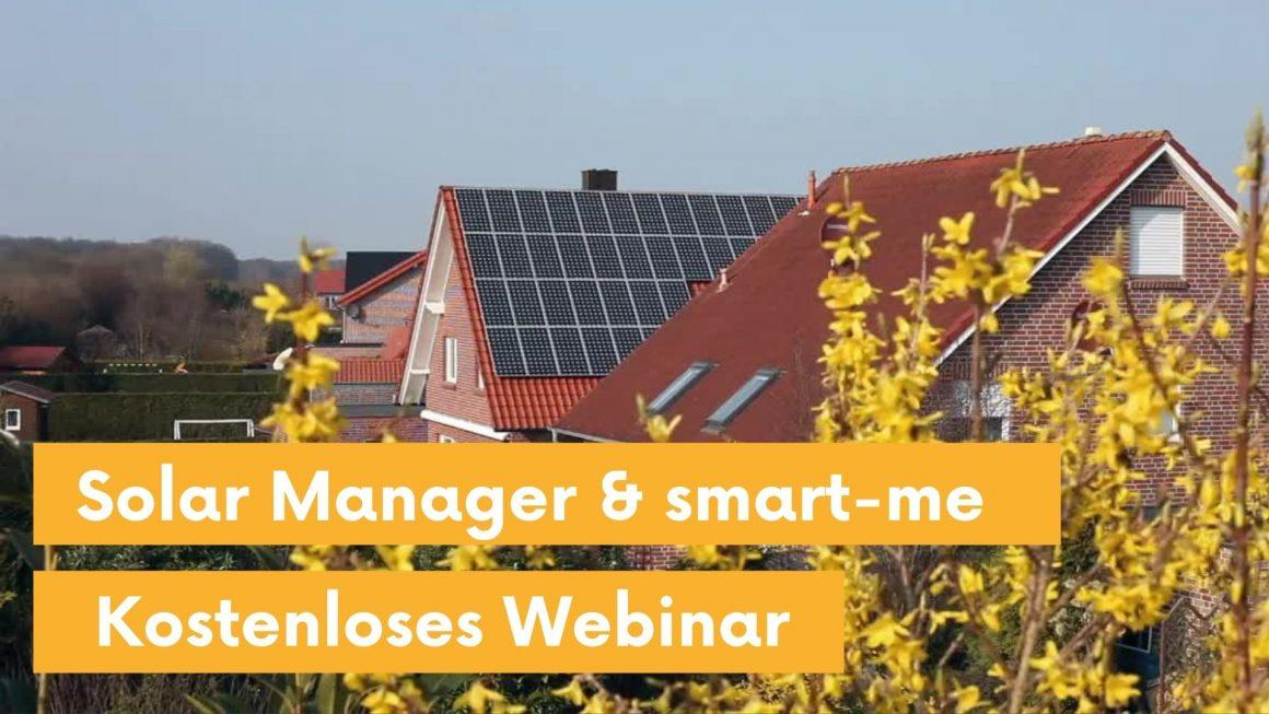 Webinar Solar Manager