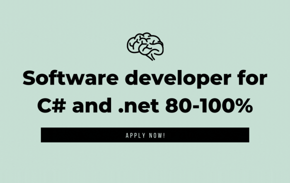 Job Opportunity – Software developer for C# and .net 80-100%